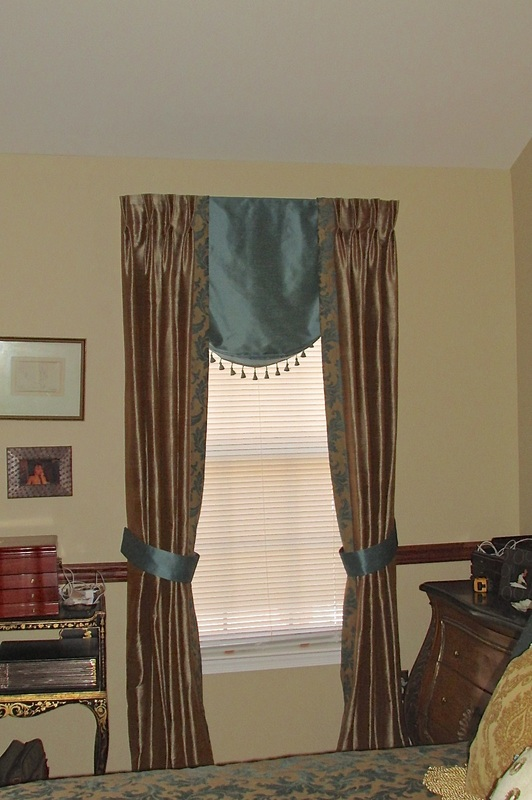 Photo Of Custom Balloon Shade With Pinch Pleat Drapes. Custom Drapery In  Voorhees. Custom Curtain Design Photos