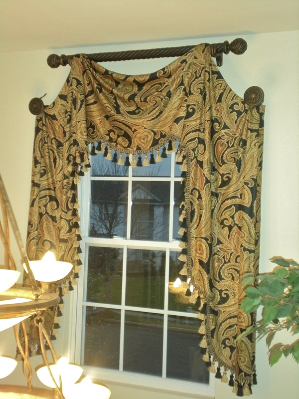 beige vertical valances for room art modern window blinds walls dining breakfast traditional with living valance custom nook