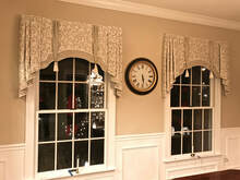 custom valance dining room
